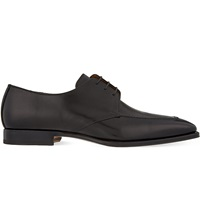 Corneliani Mantova Leather Derby Shoes Black