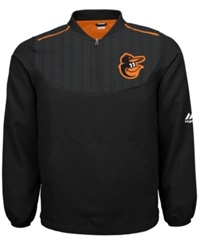 Majestic Boys' Baltimore Orioles Quarter Zip Pullover Jacket