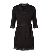 Mimi Holliday Chai Lace Trim Robe Female Black