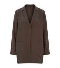 Eileen Fisher Notched Lapel Jacket Female Brown