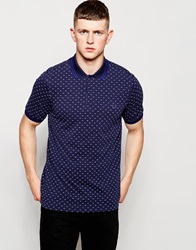Fred Perry Polo Shirt With Twin Tip And Polka Dot In Dark Carbon Darkcarbon