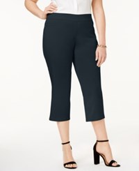 Jm Collection Plus Size Pull On Capri Pants Only At Macy's Intrepid Blue