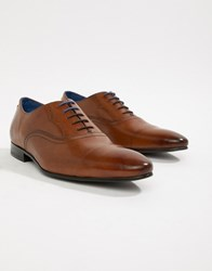 Ted Baker Murain Oxford Shoes In Tan Leather