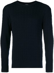 Paul And Shark Cable Knit Jumper Blue