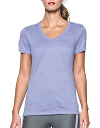 Under Armour Solid V Neck Tee Wild Aster