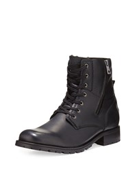 Andrew Marc New York Vesey Fleece Lined Leather Boot Black Women's