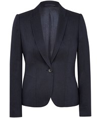 Austin Reed Twill And Linen Jacket Navy