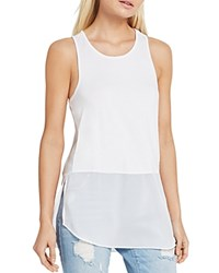 Bcbgeneration Mixed Media Racerback Tunic Top Optic White