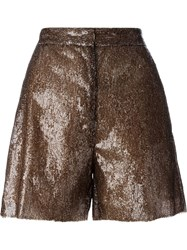 Maison Martin Margiela Mm6 Maison Margiela Sequin Shorts Brown