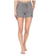 Asics Knit Shorts Heather Grey Women's Shorts Gray