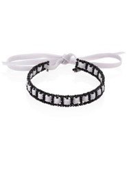 Erickson Beamon American Graffiti Crystal And Velvet Choker Black