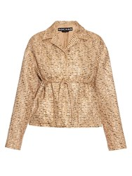 Rochas Point Collar Boucle Tweed Jacket
