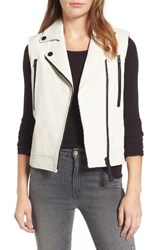 Derek Lam Women's 10 Crosby Leather Moto Vest Soft White