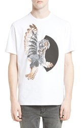 Neil Barrett Men's Mechanical Owl Graphic T Shirt