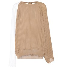 Marni Silk And Cotton Top Brown