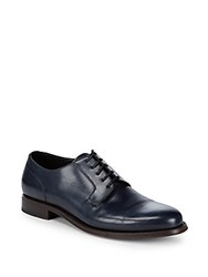 Brioni Goodyear Lace Up Derby Shoe Ink