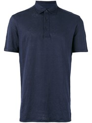 Ermenegildo Zegna Polo Shirt Men Linen Flax 56 Blue