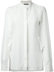 Bassike Shaped Side Slit Shirt White