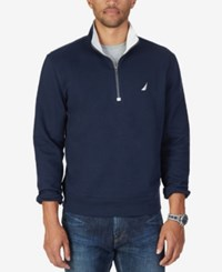 Nautica Men's Big And Tall Quarter Zip Sweatshirt Navy