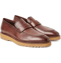 Berluti Leather Penny Loafers Chocolate