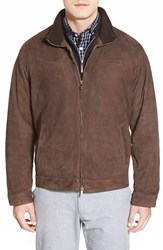 Men's Peter Millar Cashmere Lined Leather Jacket