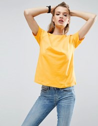 Asos Boyfriend T Shirt With Wide Sleeve Bright Yellow Beige