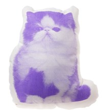 Areaware Persian Cat Mini Cushion Purple