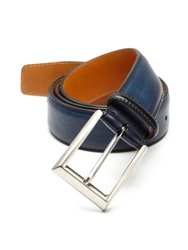 Saks Fifth Avenue By Magnanni Leather Belt Navy