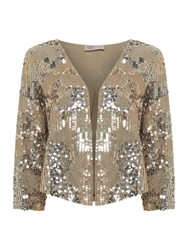 Label Lab Encrusted Bead And Sequin Jacket Metallic