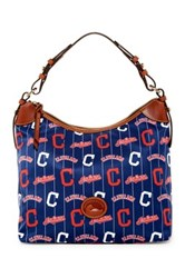 Dooney And Bourke Indians Nylon Large Erica Hobo Blue
