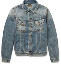 Nudie Jeans Billy Washed Organic Denim Jacket Blue