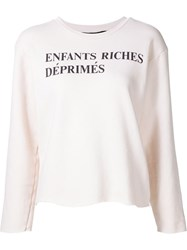 Enfants Riches Deprimes Logo Print Sweatshirt White