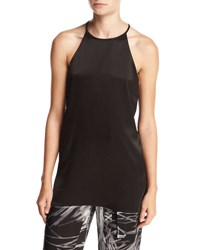 Halston High Neck Racerback Camisole Tunic Black