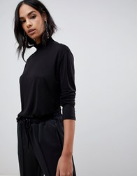G Star Loose Funnel Top With Sustainable Fibres Dark Black
