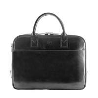 Maxwell Scott Bags Black Leather Laptop Briefcase Bag Calvino