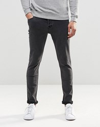 Only And Sons Washed Black Slim Fit Jeans With Stretch Black