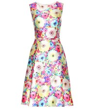 Oscar De La Renta Printed Silk And Cotton Blend Dress Multicoloured