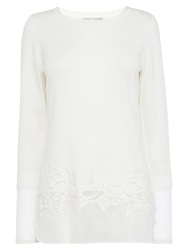 Coast Maria Clara Knit Top Ivory