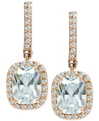 Giani Bernini Cubic Zirconia Halo Drop Earrings In 18K Rose Gold Plated Sterling Silver Only At Macy's