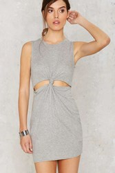 Nasty Gal Hot Knot Ribbed Dress