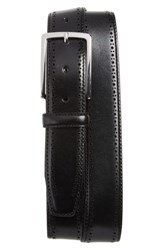 Nordstrom Big And Tall Shop Lowell Leather Belt Black