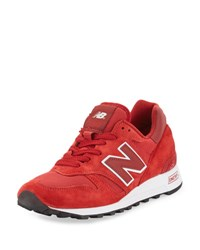 New Balance Men's 1300 Age Of Exploration Bespoke Suede Sneaker Red White