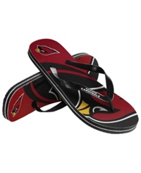Forever Collectibles Arizona Cardinals Thong Sandals Red