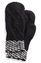 Women's Lole Cable Knit Mittens Black