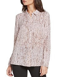 Bcbgeneration Snake Print Shirt Rose Smoke