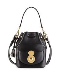 Ralph Lauren Ricky Tumbled Calfskin Bucket Bag Black