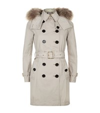 Burberry Churchdale Warmer Trench Coat Female Taupe