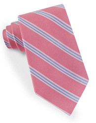 Lord And Taylor Racer Stripe Tie Pink