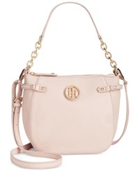 Tommy Hilfiger Sadie Pebble Leather Crossbody Blush