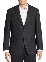 Tommy Hilfiger Regular Fit Hopsack Wool Sportcoat Charcoal